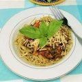 Mushroom Basil Pasta with Edamame-1