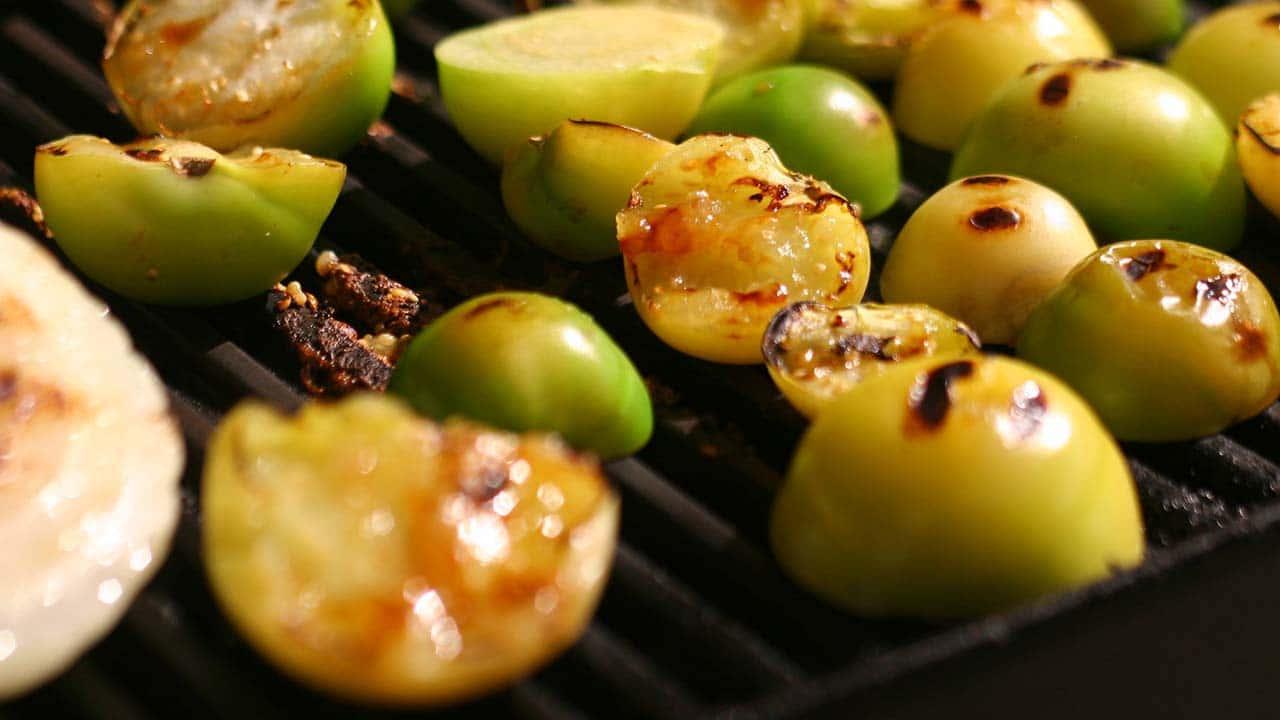 Tomatillo Salsa Verde grilling
