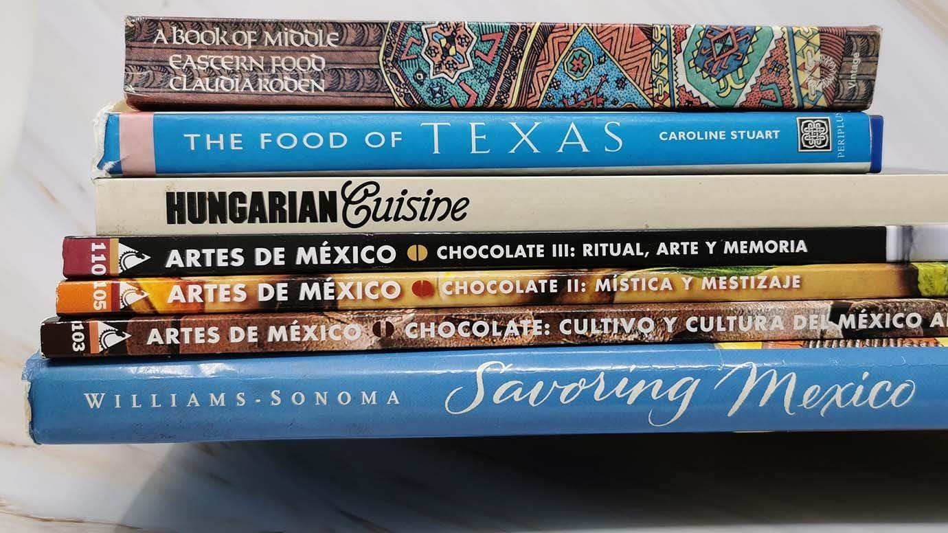 Cookbooks from Hannas shelf