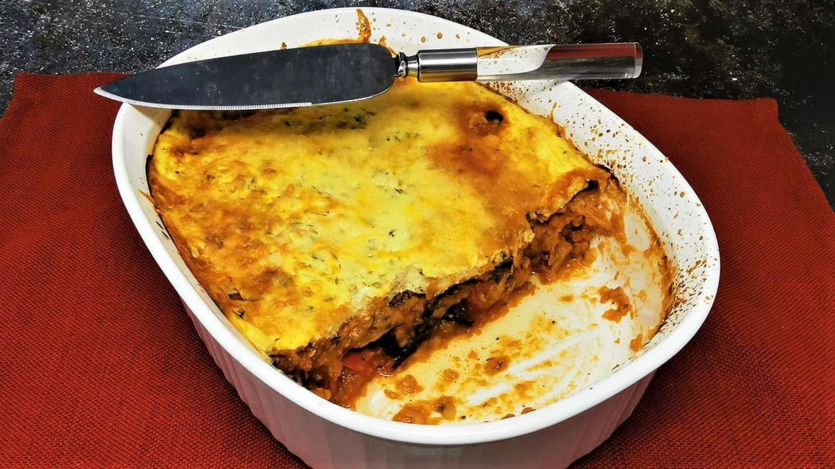Vegetarian Moussaka With Eggplant Diet Desires Rich Texture Delicious