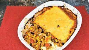 Cornbread Tamale Pie Casserole