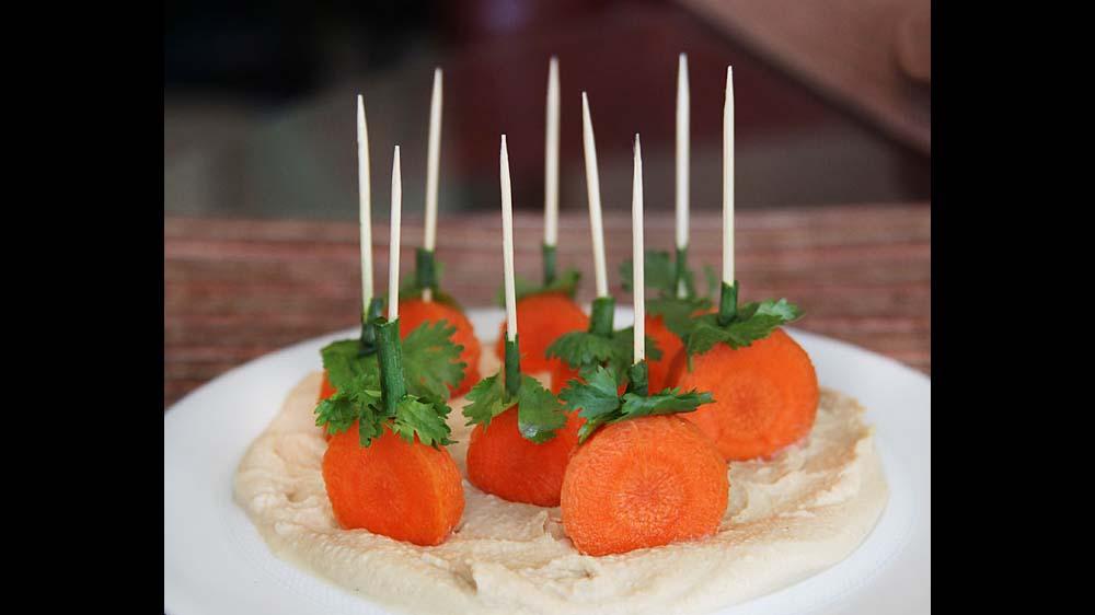 Carrot Hummus Appetizer