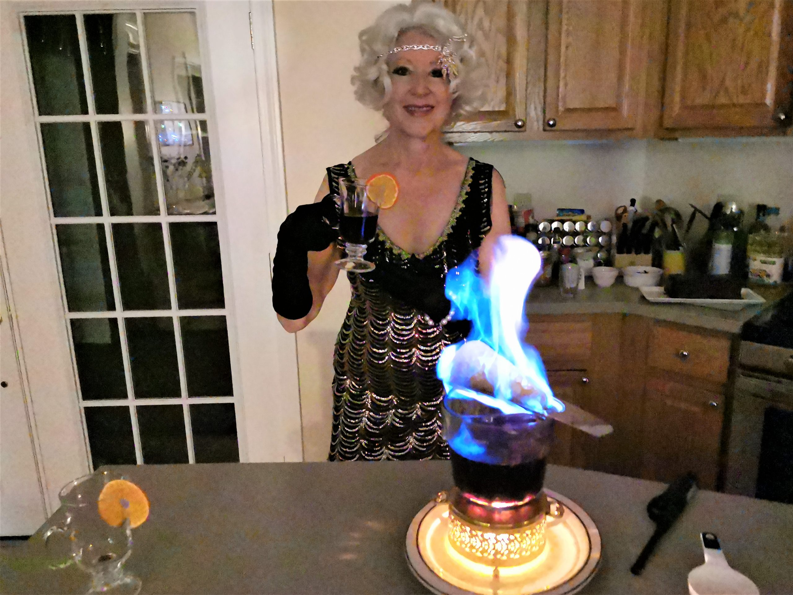 Flaming Krampampuli with Dr Hanna