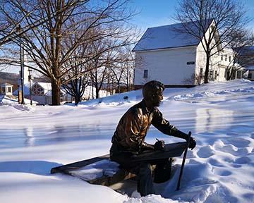 Poet Robert Frost in Winter