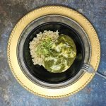 Spinach with Indian Cottage Cheese (Palak Paneer)